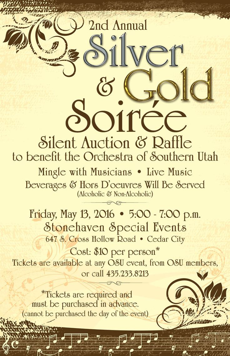 Time to get tickets for upcoming OSU event.  Tickets must be purchased in advance. More info and photos of auction items: http://osucedarcity.blogspot.com/2016/04/silver-and-gold-soiree-silent-auction.html
