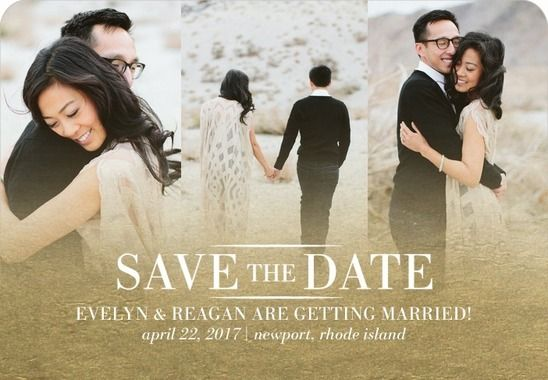 Gold foil Save the Date magnet