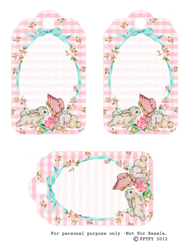 Free Vintage Baby Girl Tags by FPTFY | Flickr - Photo Sharing!