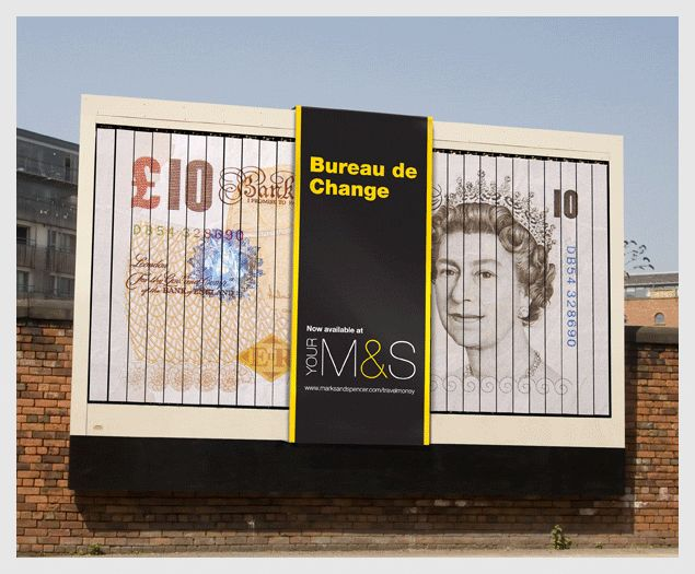 sand blog marks and spencer bureau de change by the chase best use of a mechanical billboard i. Black Bedroom Furniture Sets. Home Design Ideas