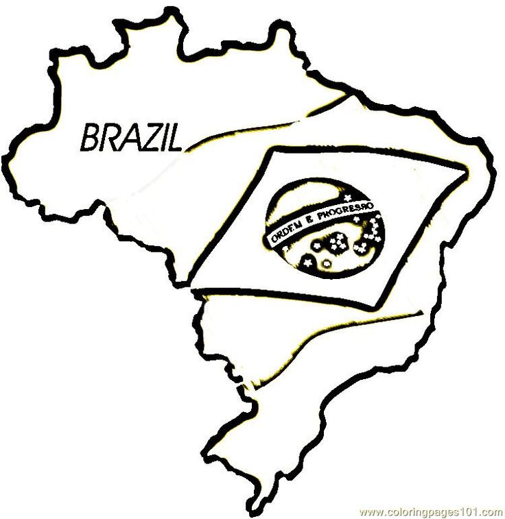 free coloring pages of flag of brazil - Brazil Flag Coloring Page