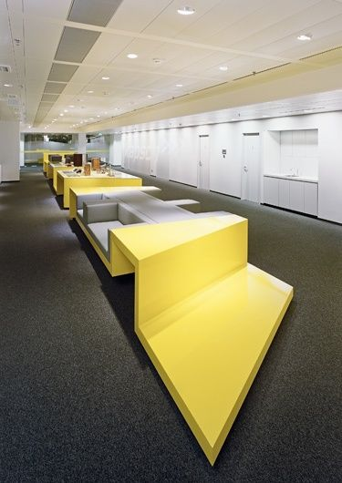 Kapsch TrafficCom Headquarters | Interior | Projects | BWM Architekten und Partner #office #design #interior #yellow #minimal #space