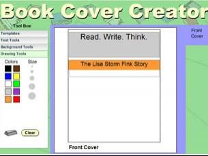 Allows students to create a book cover