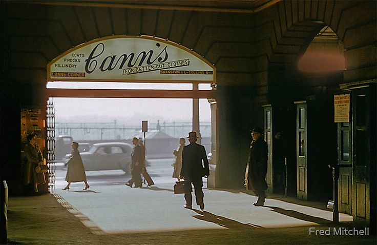 Canns Entrance Flinders Street Station 1957 by Fred Mitchell // Feature Friday