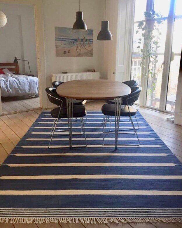 Scandinavian Style Rug 200 X 300 Cm 100 Cotton Dhurrie Kelim Etsy Rugs Rug Styles Rugs Uk