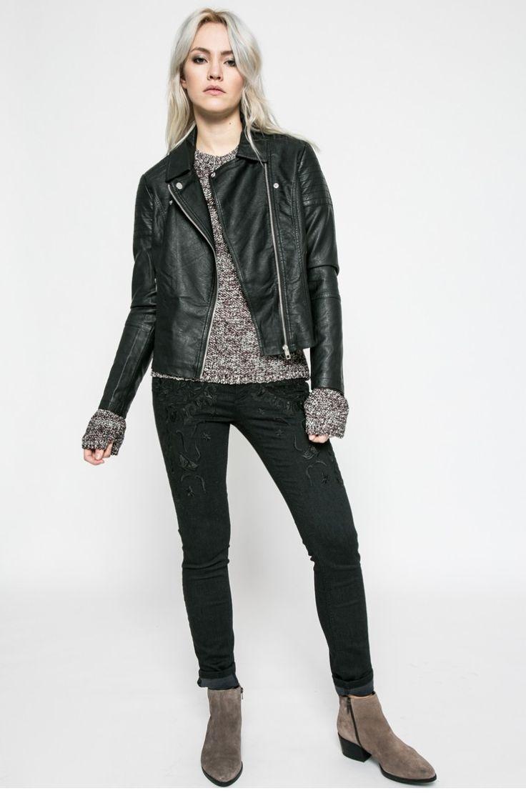 Bundy a kabáty Krátké bundy - Jacqueline de Yong - Bunda ramoneska