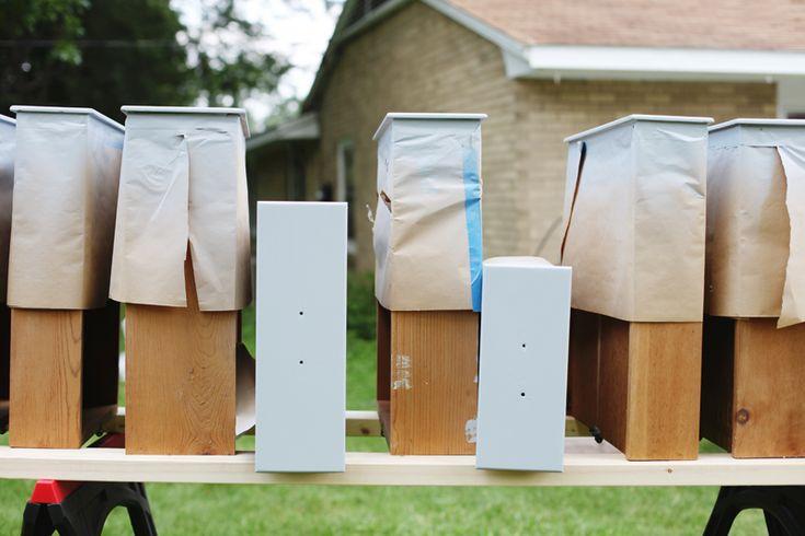 Refinishing armários de cozinha (uma bela bagunça)