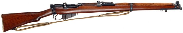 Lee-Enfield No.1 Mk.III* - .303 British. This simplified variant of the Mk.III (changes include the magazine cutoff, volley sights and windage adjustable rear sights being removed and a different cocking piece) was designed for expedient production in 1915 and became the most numerous variant of the Mk.III, seeing action throughout the 20th century.
