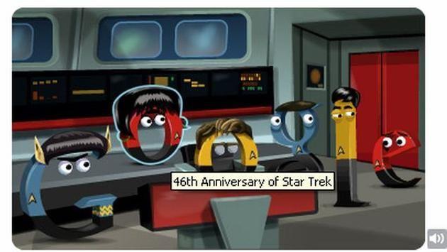 Google doodles 'Star Trek - The Original Series'
