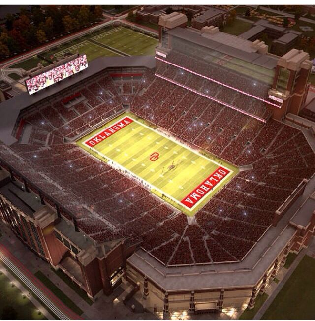 Computer rendering of The University of Oklahoma's stadium renovations. This will be awesome!