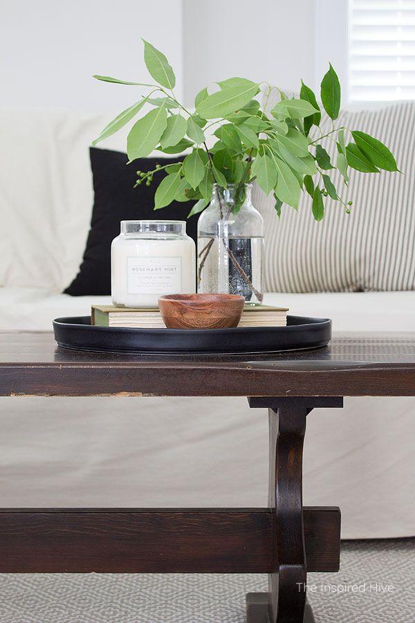 Modern Traditional Living Room Refresh Modern Traditional Living Room Table Decor Living Room Coffee Table Vignettes