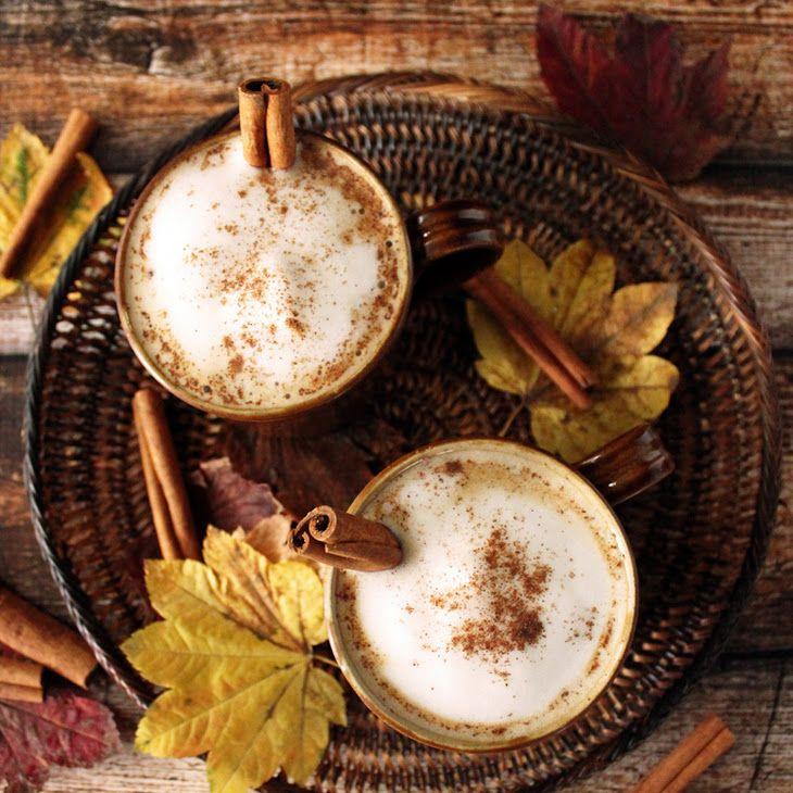 Maple Cinnamon Latte Recipe Beverages with milk, coffee, maple syrup, cinnamon, cinnamon sticks