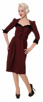 Flared Dresses Plain Wanda Winter Dress Georgette