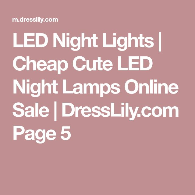 LED Night Lights | Cheap Cute LED Night Lamps Online Sale | DressLily.com Page 5