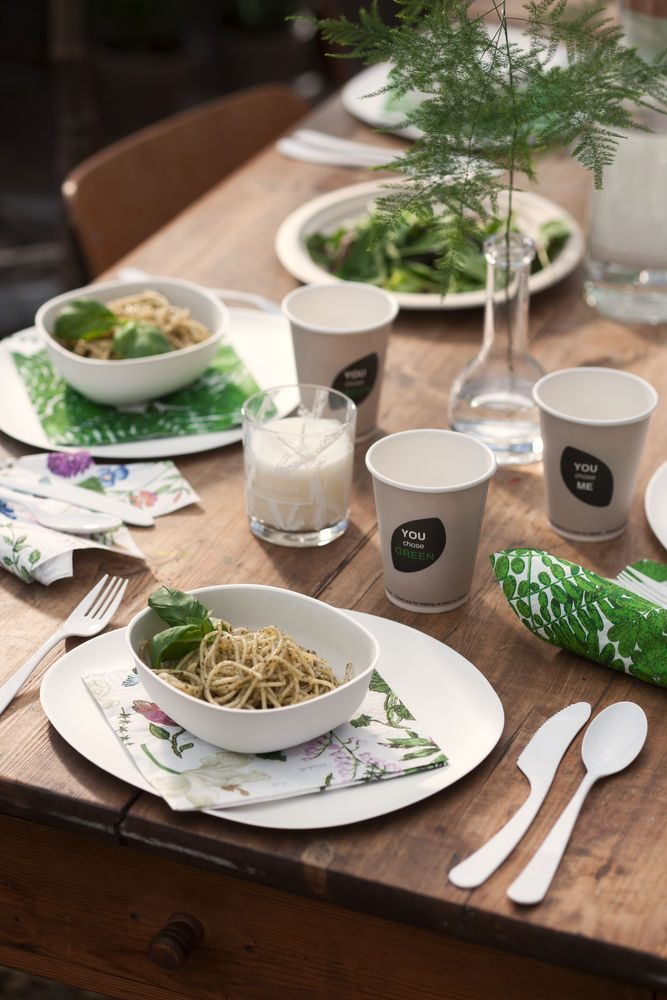 Awardwinning tableware - Pebble bagasse. Show that you are aware and care about our environment! #ecotablesettings