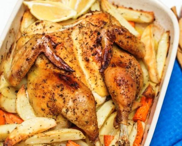 Курица с картошкой в духовке рецепт: рецепт приготовления с фото