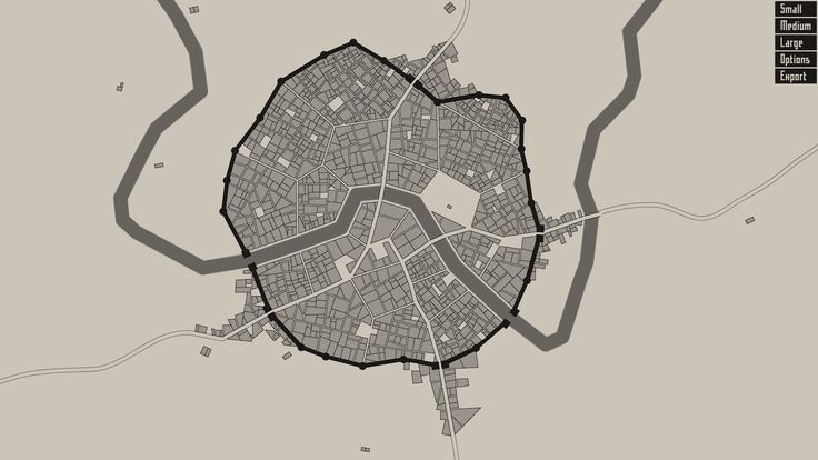 Generate Medieval City Maps with This Online Tool