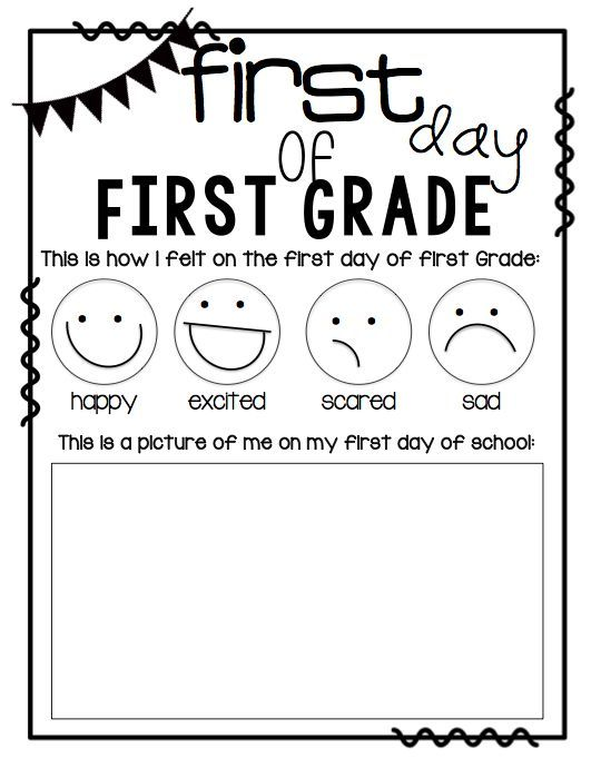 First day of first grade printable