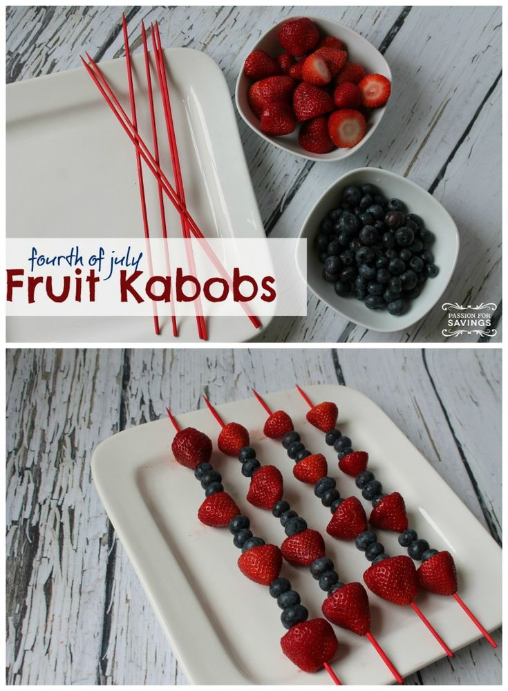4th of July Fruit Kabobs Recipe TidewaterParent.com is loving this 4th of July inspiration! #tidewaterparent #parent #holidays #4thofJuly