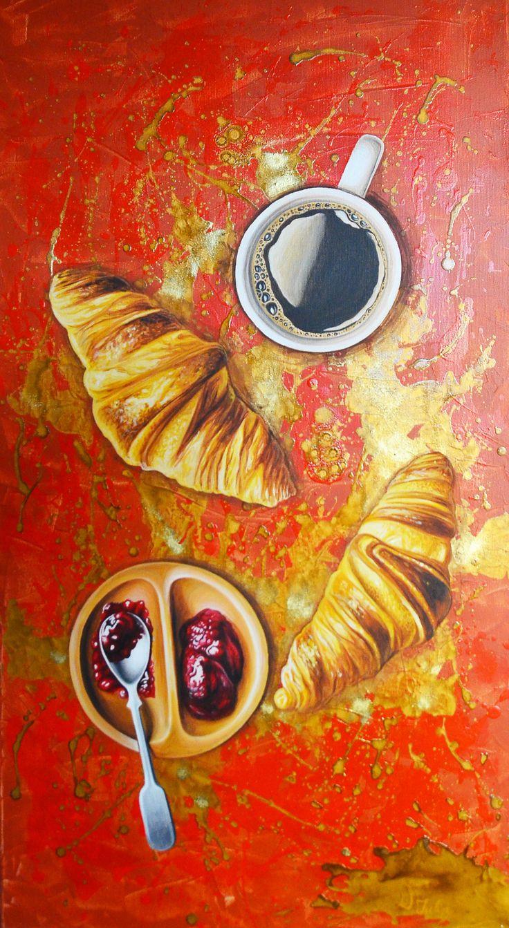 """Breakfast"" acrilic painting by Iulia Dinca"