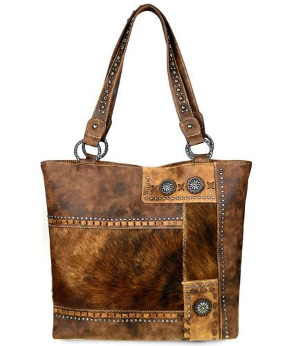 Trinity-Ranch-Hair-On-Leather-Collection-Concealed-Handgun-Tote-Brown