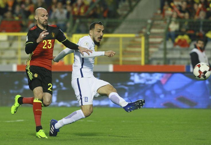 De kans is zo goed als onbestaande dat de Griekse steraanvaller Mitroglou,die in Brussel scoorde tegen de Rode Duivels,zondagavond kan spelen tegen de Belg...