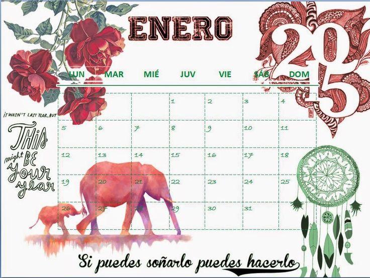 Calendario enero 2015 Simply Stylish: NUNCA ES TARDE SI LA DICHA ES BUENA
