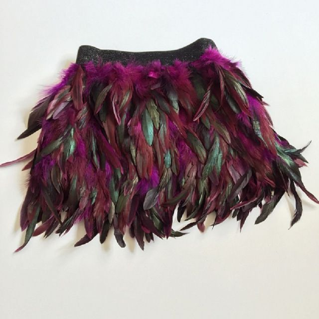 black peacock ostrich feather mini skirt costume dance woman feathered feathers fringe high waist vestido falda plumas skirts