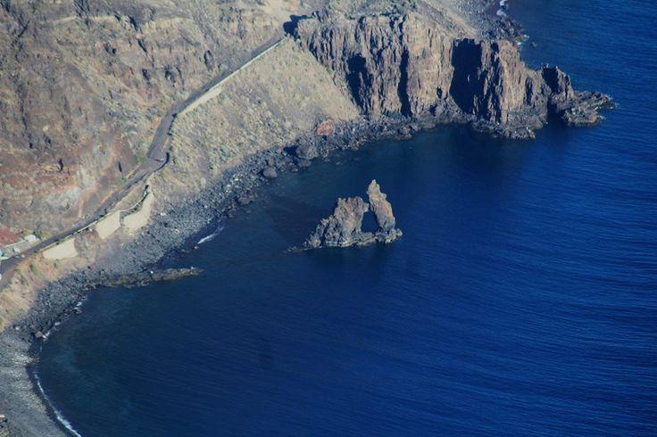 Roque Bonanza desde el Mirador de las Playas - El Hierro
