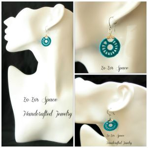 #crochet #tutorial to make these lovely Turquoise Teal Hoops - 20mm from Zo-Zo's Space