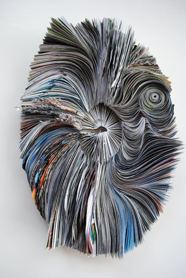 Whirlpool Made out of calendar pages