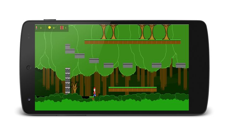 Retro platform game from the book Android Game Programming by Example.
