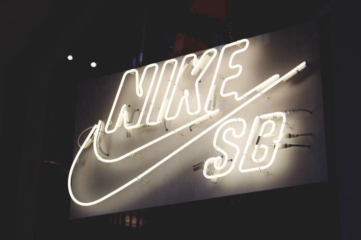Nike SB neon sign