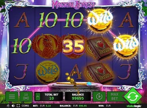 Игровой автомат Magical Forest – играть на деньги  Игровой аппарат Magical Forest посвящен сказочной тематике. Этот автомат получил 10 линий и возможность запустить большое количество прибыльных фриспинов. Выгодно играть на реальные деньги позволяет особая бонусная функция.