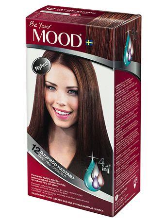» N 12 DJUPRÖD KASTANJ Permanent hårfärg med det unika komplexet multitechnology, för naturlig färg och glans. Täcker grått hår.  Anpassad för mörkare hår som får en djup rödbrun nyans. Blonda och gråa hår får en stark eldröd nyans.