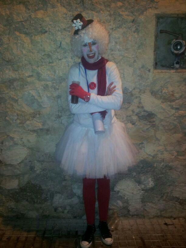 'Muñeco de nieve', de Rosa Bolta.  Finalista del premio al mejor disfraz individual.  Sábado, 9 de febrero de 2013.