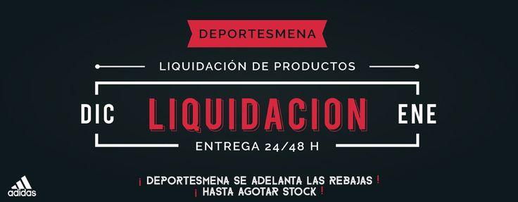 Gran liquidación de artículos de botas de fútbol, chandal adidas, zapatillas adidas, bolsas, balones, equipaciones, etc en www.deportesmena.es