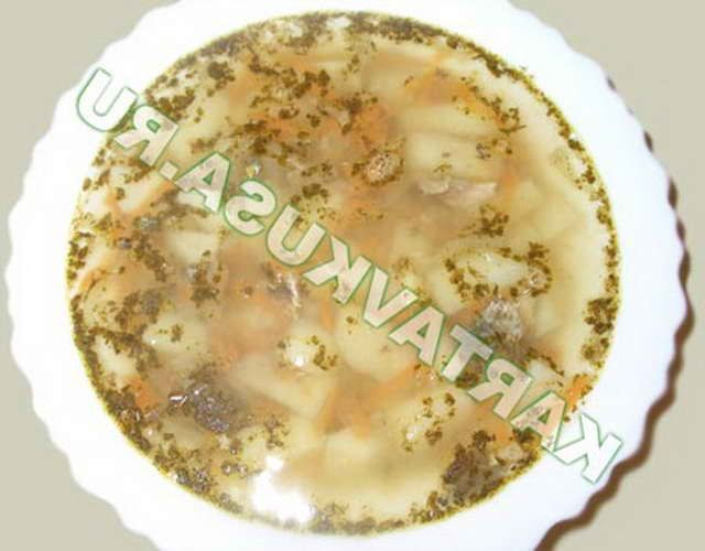 Суп консервированный щавель мука