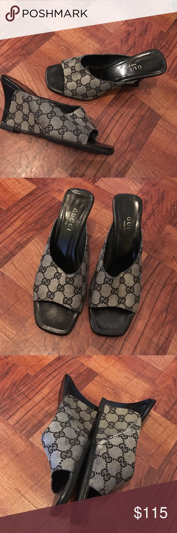 Vintage Gucci Wedges Pre-Owned Vintage Gucci Wedges, Had The Sole And Heel Redone, My Price Is Firm And Thank You For Visiting My Closet...Size 38C Gucci Shoes Wedges