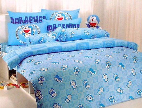 Doraemon King Size Bed Sheet Set 4 Pcs Dm04 Fast Shipping