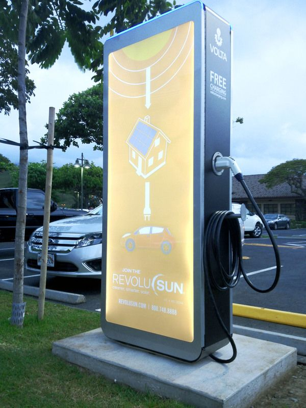 EV Charging Station - Volta by Raul Gonzalez Podesta, via Behance