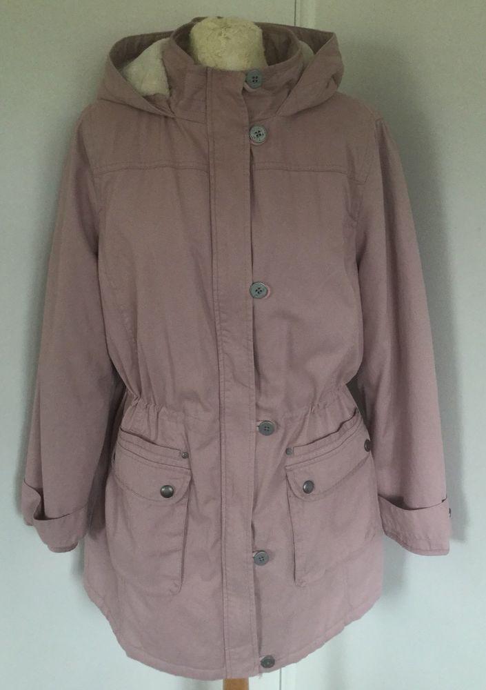 01eb0cbb9e8 Mantaray Ladies Pink Cotton Parka Coat Jacket with Hood Fur Lined BNWT RRP  85  fashion  clothes  shoes  accessories  womensclothing   coatsjacketswaistcoats ...