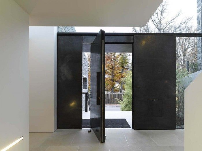black steel pivot door in Haus M by Titus Bernhard Architects.not too sure but what this is but if I was loaded I would def have a steel door. & 27 best pivot frontdoors images on Pinterest | Entrance doors ...