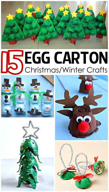15 Egg Carton Christmas & Winter Crafts for Kids. Use recycled materials like egg cartons to make fun crafts during the holidays.
