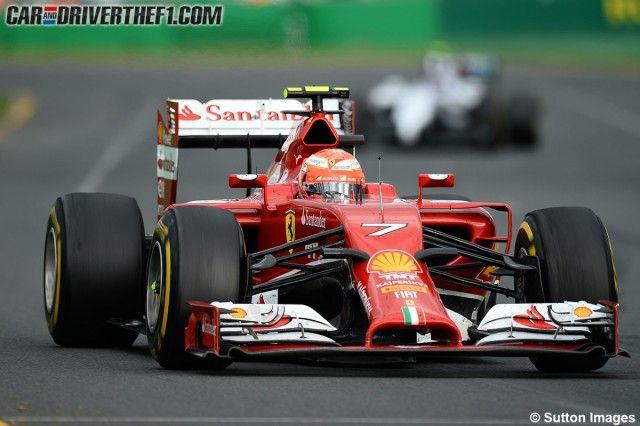 - Kimi Raikkonen a bordo del Ferrari F14-T en el GP de Australia de 2014