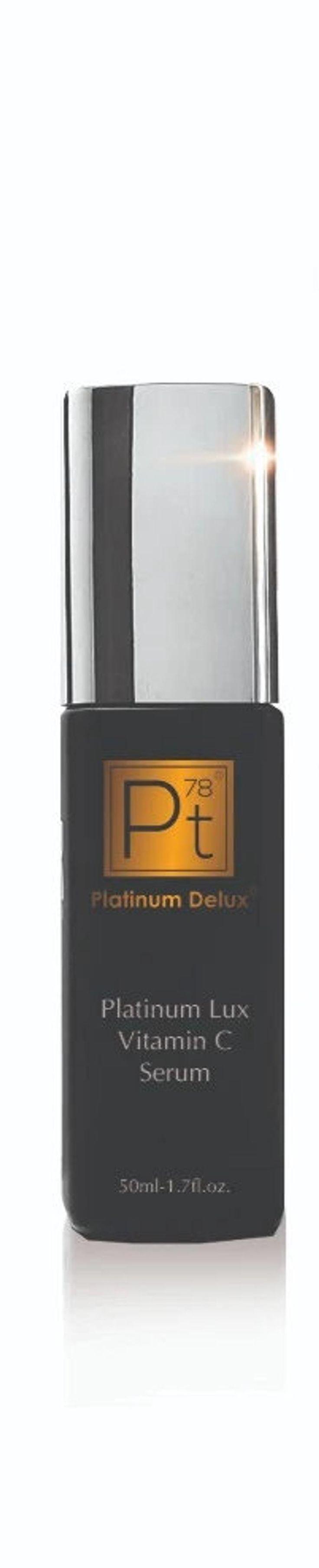 Platinum Lux Vitamin C Serum Platinum Deluxe ® | Etsy Platinum Skin Care, Colloidal Gold, Vitamin C Cream, Even Out Skin Tone, Smooth Lines, Skin Brightening, Active Ingredient, Collagen