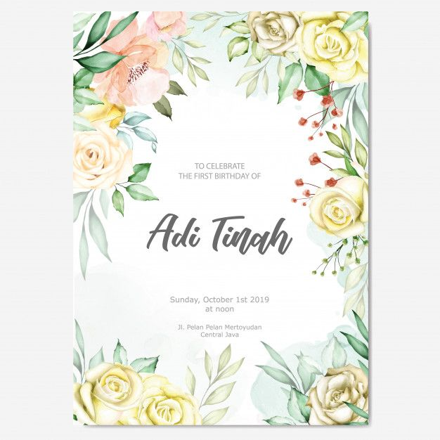 Watercolor Floral Frame Multi Purpose Background Floral Watercolor Wedding Card Templates Wedding Invitation Cards