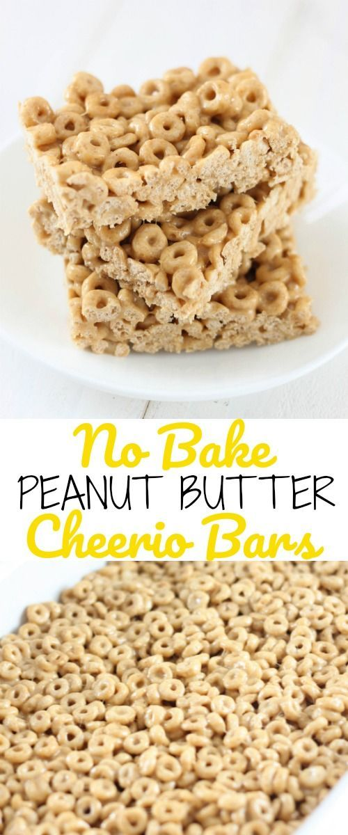 These No-Bake Peanut Butter Cheerio Bars are an easy cereal treat that both kids and adults will love!