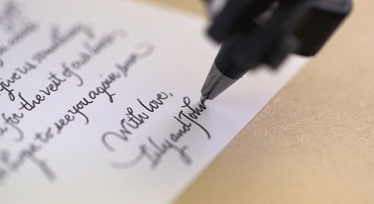 Service uses calligraphy robots to automate handwritten letters