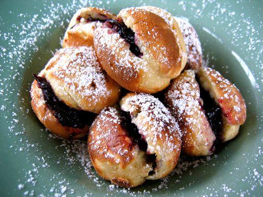 Ebelskivers (Danish Pancakes) With Lingonberry Jam Recipe — Dishmaps
